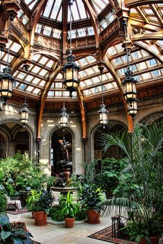 Not just any atrium.this is the Atrium in the Biltmore Estate. Patio Interior, Interior Exterior, Interior Architecture, Garden Architecture, Victorian Architecture, Beautiful Architecture, Future House, My House, Beautiful Homes