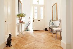 Eye-popping engineered wood flooring - visit our site for a whole lot more recommendations! Engineered Wood Floors, Hardwood Floors, Wood Flooring, Bank Holiday Sales, Natural Brushes, Open Plan Kitchen Living Room, Mediterranean Garden, Light Oak, Herringbone