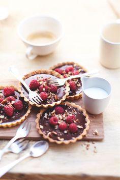 Recette: Petites tartelettes #chocolat #framboises. #Picard