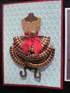 www.stampingwithsally.blogspot.com.au  Stampin' Up! Presentation Sample Dress Up Framelits Ngairie Anderson