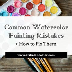 5 Common Watercolor Painting Mistakes and How to Fix Them Watercolor Tips, Watercolor Painting Techniques, Watercolour Tutorials, Watercolor Pencils, Watercolor Landscape, Watercolour Painting, Watercolors, Watercolor Beginner, Landscape Paintings