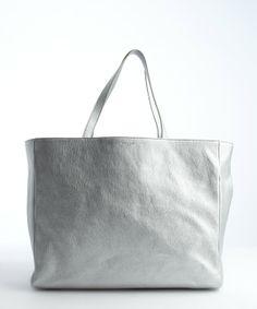 SaintLaurent  YSL metallic silver tote Ysl, Tote Handbags, Leather  Shoulder Bag, 62d97d6dd54a