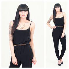 Black Cami Jumpsuit... <3 Outfits 2016, Love Clothing, Cami, Outfit Ideas, Jumpsuit, Closet, Black, Dresses, Style
