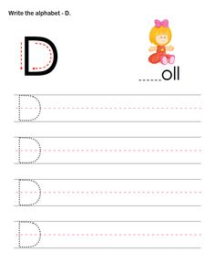 Capital Letters D - esl-efl Worksheets - preschool Worksheets Alphabet Writing Worksheets, Alphabet Writing Practice, Free Kindergarten Worksheets, Preschool Writing, Preschool Printables, Worksheets For Kids, Writing Letters, Writing Activities, Writing Mentor Texts