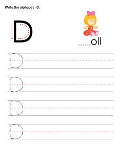 Capital Letters D - esl-efl Worksheets - preschool Worksheets