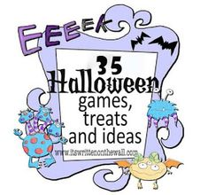 It's Written on the Wall: 23 Fun Halloween Games, Treats and Ideas for your Halloween Party. or School parties. Halloween Tags, Fun Halloween Games, Halloween Birthday, Holidays Halloween, Halloween Crafts, Happy Halloween, Halloween Decorations, Halloween Stuff, Halloween Carnival