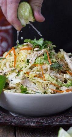 Vietnamese Inspired Chicken & Cabbage Salad Paleo