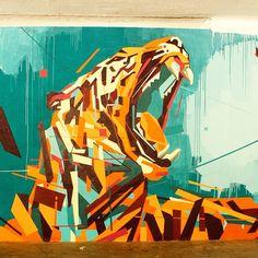 by Arlin - São Paulo, Brazil - September, 2014 (LP) exotic Graffiti Images, Best Graffiti, Graffiti Murals, Mural Art, Wall Art, Graffiti Lettering, Graffiti Artists, Best Street Art, 3d Street Art