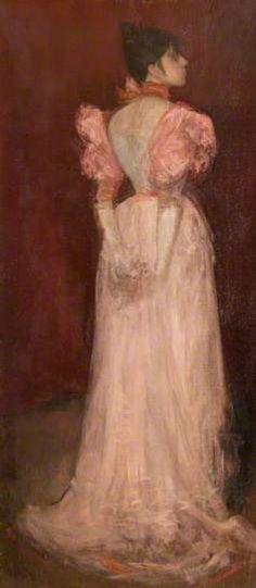 Rose et or: La tulipe, 1894-1896, James Abbott McNeill Whistler.