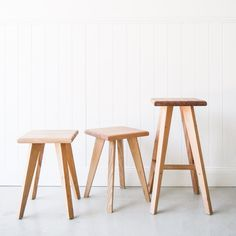 Tasmanian Oak Stools - Made in Noosa Australia 450mm & 650mm