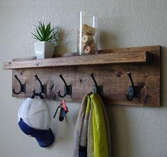Corvallis Coat Rack with Floating Shelf by KeoDecor on Etsy https://www.etsy.com/listing/162852362/corvallis-coat-rack-with-floating-shelf