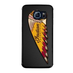 INDIAN MOTOR CYCLE CARBON LOGO Samsung Galaxy S6 Edge Case - Best Custom Phone Cover Cool Personalized Design – Favocase