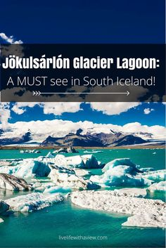 Are you visiting Iceland and wondering what to do along the beautiful South coast? Jokulsarlon glacier lagoon is on the top of my list for favorite places in Iceland! Make sure you drive a couple extra hours to see this awesome sight. | Life With a View