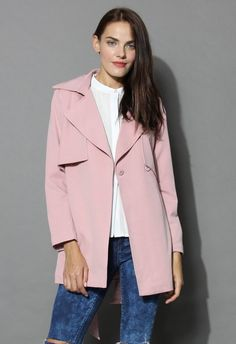 The Best Of Timeless Trench Coat in Pink - Retro, Indie and Unique Fashion