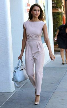 c8aeac93cc71 Max Mara Pianoforte Derna Ruched Crepe Jumpsuit – Jessica Alba going to  Sprinkles Cupcakes on October 2015 in Beverly Hills