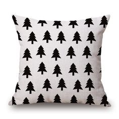 Black and White Geometric Throw Pillow Covers
