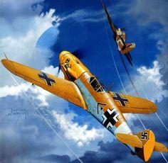 1941 Bf109 F JG 27 vs Hurricane - Jaroslaw Wrobel