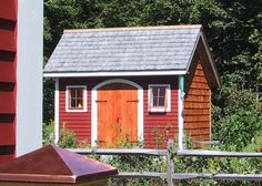 8x Saltbox Shed. Example shows optional arched doorway, shingle and clapboard siding + architectural shingle roofing. Standard Plans $9.99, Kits - 2 people 28 hours + Fully Assembled in the northeast. Kits ship *Free in the continental US + eastern Canada. http://jamaicacottageshop.com/shop/salt-box-series-8x/ http://jamaicacottageshop.com/wp-content/uploads/pdfs/pdf8x12saltbox.pdf http://jamaicacottageshop.com/free-shipping/ #jamaicacottageshop #sheds #storage #gardensheds