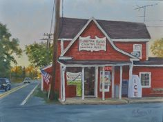 "Tilghman Island Country Store by Kathy Kopec Oil ~ 9"" x 12"""