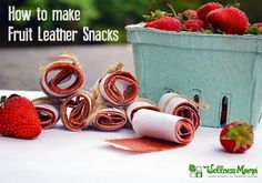 Delicious strawberry fruit leather snacks that kids will love (and they're made with beets!)