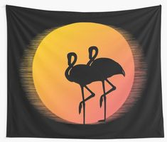 Flamingos Against th