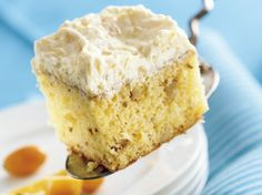 It's cool, it's creamy, it's moist and it's easy to have on hand because it stores in the fridge. There's no denying the popularity of this orange-flavored cake with the creamy pineapple frosting.