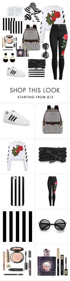 """""""Untitled #5"""" by cro-traum ❤ liked on Polyvore featuring adidas, Henri Bendel, Off-White, Monza, Tempaper, Yves Saint Laurent and Warehouse"""