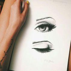 dibujo, draw, eye, ojos, First Set on Favim.com