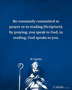 St. Cyprian was a highly educated and famous orator who became a Christian as an adult. He played an important part in developing Christian thought in the third century and was close friends with Pope Cornelius. ⁠ ⁠ Remember St. Cyprian's words as you go about the rest of this week - how can you commit to praying, reading, or speaking to God each day?  ⁠ St. Cyprian, pray for us! #catholiccompany #becausefaithmatters #catholic #saintquotes #wisewords #saints #quotes #pray Catholic Store, Catholic Company, Catholic Saints, Cool Words, Wise Words, Saint Quotes, Frame Of Mind, The Orator, Pray For Us