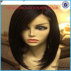 Cheap 6a Grade Brazilian Virgin Hair Straight Silk Top Bob Wigs,Glueless Lace Front Wigs natural hair line Lace Wigs