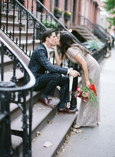 Chic and Timeless NYC Elopement | Wedding Sparrow | Weber Photography + Lindsey Brunk Styling