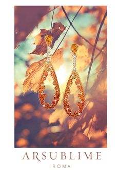 Collezione Autunno #autumn #in #rome #autunno #season #le #stagioni #collection #sapphires #orange #arsublime #roma #gold #stylish #lusso #artigianale #italiano #handmade #finejewellery #luxury #orange #leaf #light #gioielli #italiani #fashion