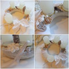 ❄️ #advent #adventskranz #homemade #white ##christmas #december