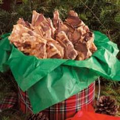 Chocolatey Peanut Brittle: A new Christmas tradition for us! This actually tastes more like toffee than peanut brittle.  Yummy!