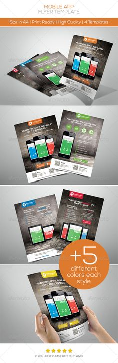 Buy Mobile App Promotion Flyers by on GraphicRiver. Mobile Application Design, Flyer Design, Corporate Design, Layout Design, Logo Design, Graphic Design, App Promotion, Mobile Mockup, Posters