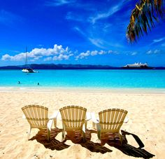 beach chairs in the virgin islands
