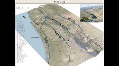 위성사진으로본 성경지도 3번 이스라엘의 주요도로