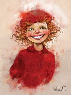 Red Art, Children's Book Illustration, Cute Art, Art Inspo, Illustrators, Art For Kids, Folk Art, Fantasy Art, Lisa