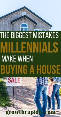 4 Mistakes Millennials Make When Buying a House - GrowthRapidly If you're a millennial looking to buy your first home, avoid these first time home buyer mistakes. New homeowner, first time home buyer tips