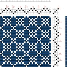 draft image: Four Shaft Waffle, Handweaving.net Visitors, 4S, 4T