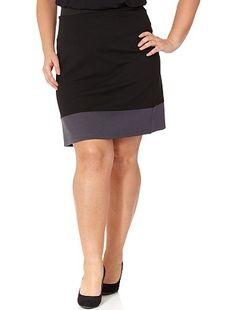 Jupe bi-colore Grande taille femme - Kiabi - 6,49€