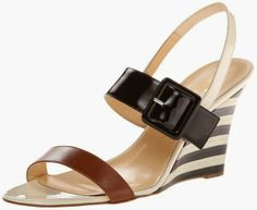 kate spade new york Women's Isola Wedge Sandal. This shoe is sassy, and yet neutral enough to wear with many things. It can be worn with either dressy or casual outfits. #shoes