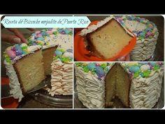 Receta de bizcocho mojadito de Puerto Rico (Ponque de boda o bizcocho de cumpleaños) - YouTube Spanish Desserts, Fun Desserts, Delicious Desserts, Carrot Cake Cheesecake, Brownie Cake, Brownies, Frosting Recipes, Cake Recipes, Dessert Recipes