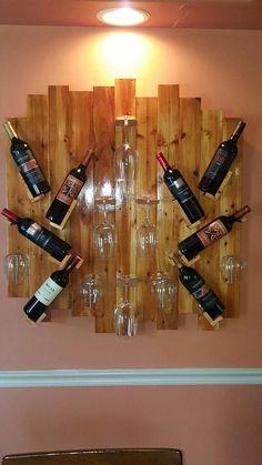 Excellent Wood Pallet Furniture New Design Wood Wine Racks, Wine Rack Wall, Pallet Wine Racks, Wine Rack Design, Home Bar Designs, Ideas Hogar, Wine Shelves, Wine Storage, Bars For Home