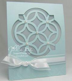Stampin' Up! Card by Jill F: Lattice Window Card Wedding Card