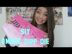 SIY: OMBRE Dip Dye Studded Shorts!- by MacAngel03 on YouTube. i want to try this! looks so cool!:)