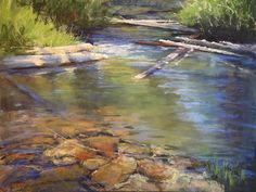 Inviting Stream by Amanda Houston from AWA's 2017 spring online juried show. #womenartists #springonlineshow17