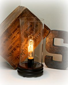 Vintage Industrial Style Edison Lamp. $65.00, via Etsy.