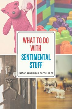 Having a hard time decluttering your sentimental stuff? Tips and ideas for honoring your memories, letting go of clutter, and downsizing the sentimental stash without the guilt. #sentimentalstuff #declutter