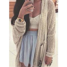 cardigan cream white long sleeves knit
